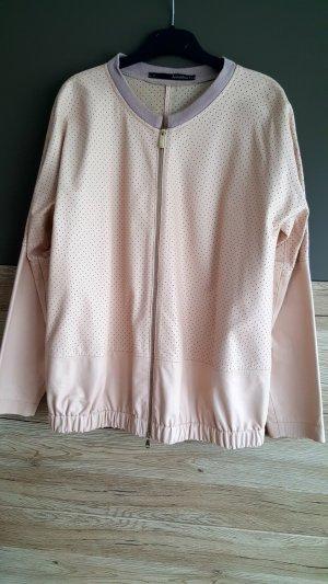 Anna Rita N Leren jack stoffig roze