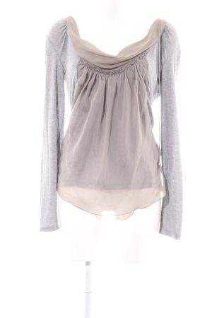 Anna Rita N Longsleeve cream-light grey casual look