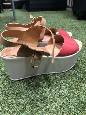 Anna Rita N Platform Sandals bright red
