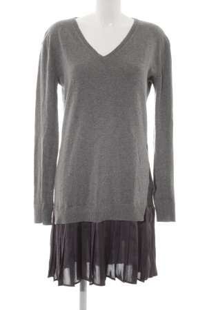 Anna Rita N Sweater Dress grey-dark grey 2-in-1 look