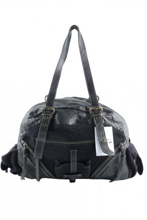 Anna Rita N Shoulder Bag black material mix look