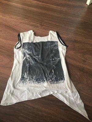 Anna Rita N Shirt lichtgrijs-zwart