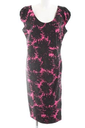 Anna Scholz for Sheego Bleistiftkleid schwarz-pink abstraktes Muster