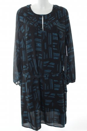 Anna Scholz for Sheego Blouse Dress black-turquoise abstract pattern elegant