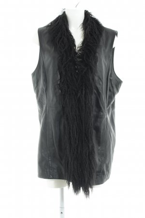 Anna Scholz for Sheego Leather Vest black casual look