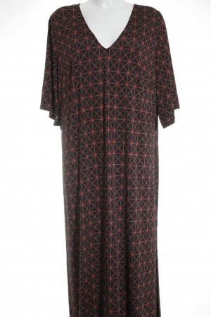 Anna Scholz for Sheego Maxi Dress taupe-brick red abstract pattern beach look