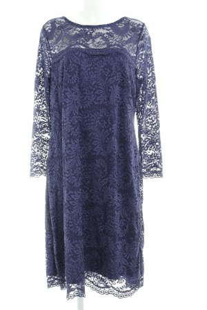 Anna Scholz for Sheego Lace Dress steel blue lace look