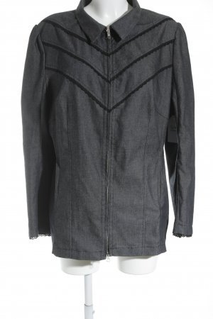 Anna Scholz for Sheego Between-Seasons Jacket slate-gray-black casual look
