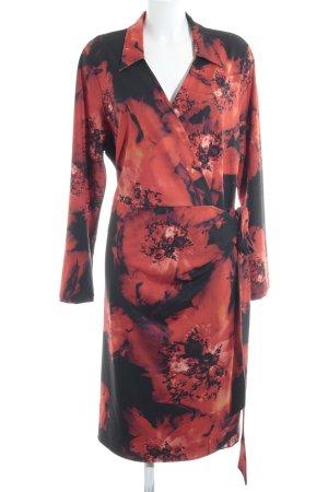 Anna Scholz for Sheego Vestido cruzado negro-naranja oscuro estilo extravagante