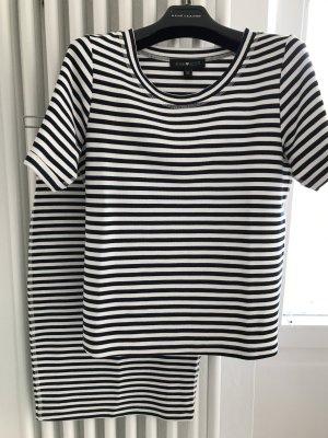 ANNA SCOTT 2-Teiler Kostüm Kleid Rock Shirt / XS 34 / Figurbetont - angezogen fällt es sehr schön.