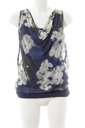 Anna Scott ärmellose Bluse Blumenmuster Street-Fashion-Look