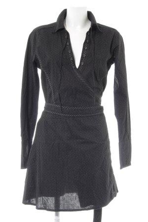 Anna Scott Blusenkleid schwarz-grau Ringelmuster Business-Look