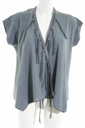 Anna Scott Cardigan blue-turquoise flecked casual look