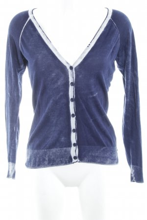 Anna Scott Cardigan dark blue-natural white acid wash