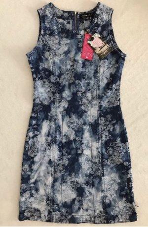 ANNA SCOTT Etuikleid Jeans Kleid, xs / 34, Blau mit Blumenprint