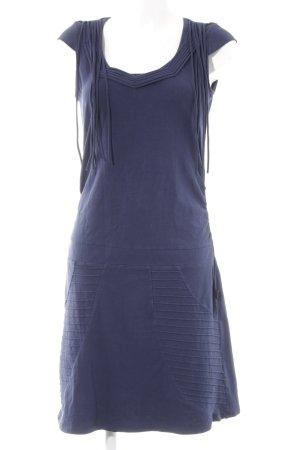 Anna Scott Vestido de tela de jersey azul oscuro look casual