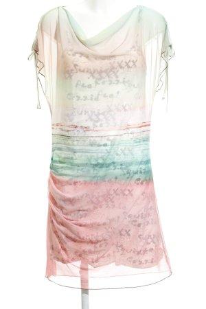 Anna Scott Vestido de manga corta estampado abstracto Estilo playero