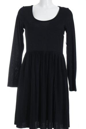 Anna Scott Vestido de manga larga negro elegante
