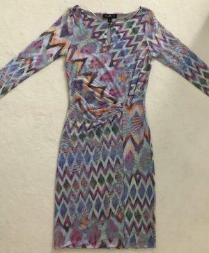 ANNA SCOTT raffiniertes Kleid pastellfarben 34/XS figurbetont