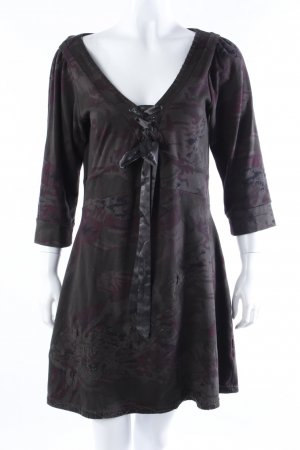 Anna Scott Shirtkleid dunkelgrün-violett