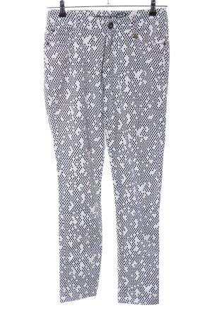 Anna Scott Pantalón de cinco bolsillos negro-blanco look casual