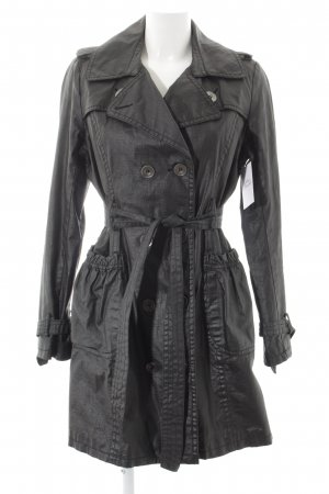 Anna Scott Trench Coat anthracite pinstripe classic style