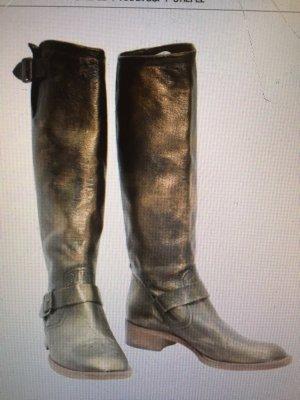 Anna Sui, bronzefarbene Stiefel