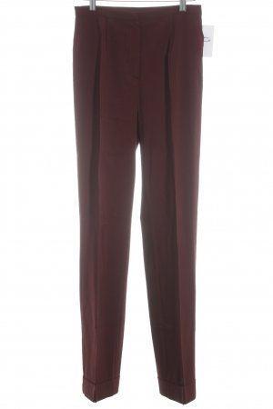 Anna Sui Pleated Trousers bordeaux elegant