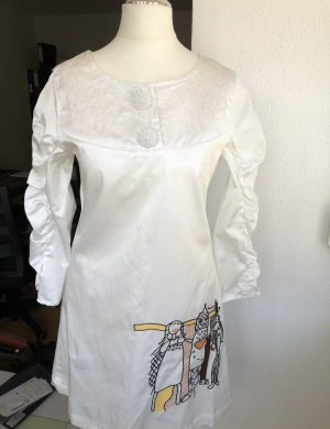 Anna Sui Designerkleid James Coviello Satin weiß Luxus