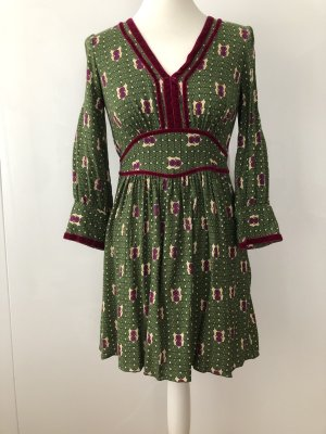 Anna Sui Babydoll Dress multicolored