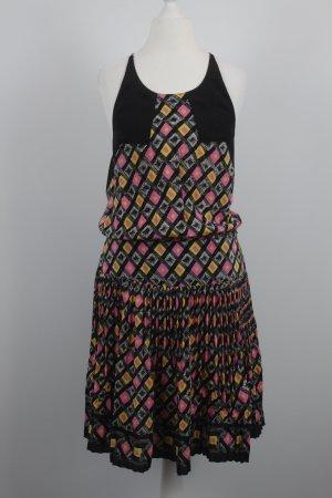 Anna Sui Kleid Gr. S schwarz bunt gemustert (18/7/204)