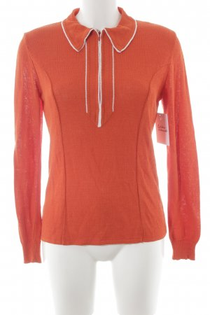 Anna Sui Longsleeve orange-weiß Casual-Look