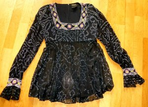 Anna Sui Silk Blouse multicolored silk