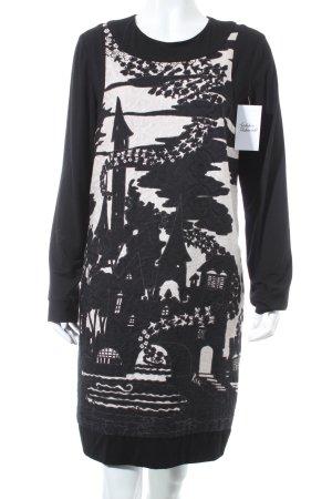 Anna Sui Shirtkleid schwarz-weiß Motivdruck extravaganter Stil