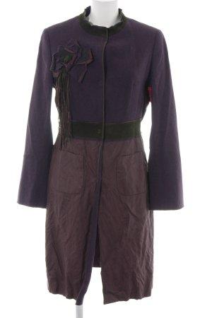 Anna von Griesheim Manteau mi-saison violet style d'affaires