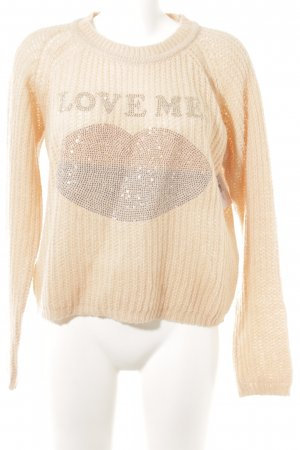 Annaeffe Knitted Sweater dusky pink loosely knitted pattern casual look