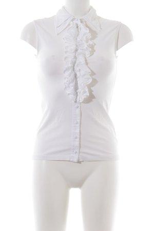 Anne Fontaine Mouwloze blouse wit zakelijke stijl