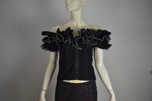 Anne Fontaine Carmen Blouse black cotton