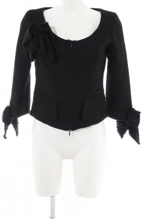 Anne Fontaine Short Jacket black weave pattern elegant
