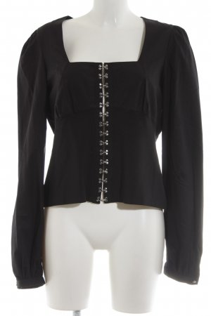 Anne Fontaine Long Sleeve Blouse black party style