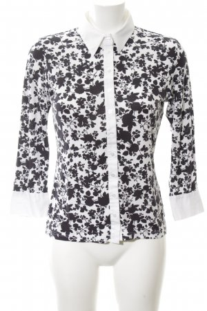 Anne Fontaine Long Sleeve Blouse white-black allover print casual look