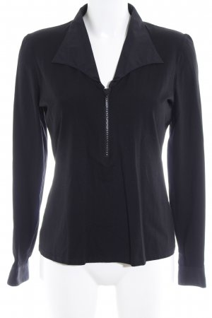 Anne Fontaine Langarm-Bluse schwarz Casual-Look