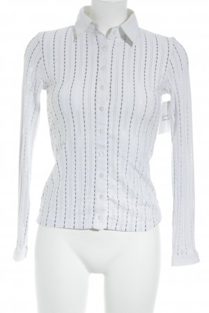 Anne Fontaine Long Sleeve Blouse white-light grey striped pattern business style