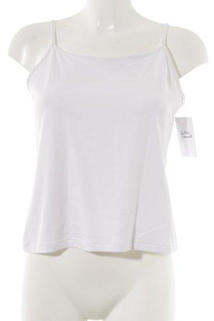 Anne Fontaine Top con bretelline bianco stile casual