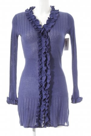 Anne Fontaine Knitted Cardigan blue violet extravagant style