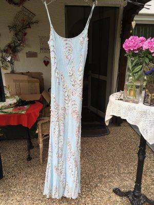 couture Sequin Dress azure silk