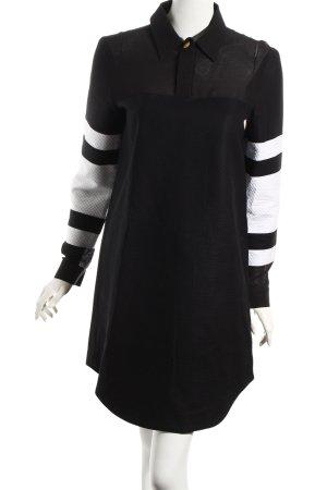 Anne Gorke Langarmkleid schwarz-weiß extravaganter Stil