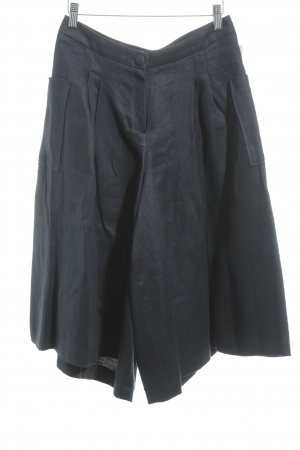 Anne Gorke Linen Pants dark blue casual look