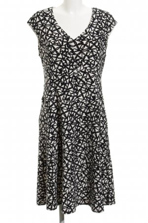 Anne Klein A Line Dress black-white flower pattern street-fashion look