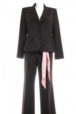 Anne Klein Trouser Suit black-pink business style